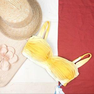 NWT Bleu Rod Beattie Yellow Ombré Bikini Top